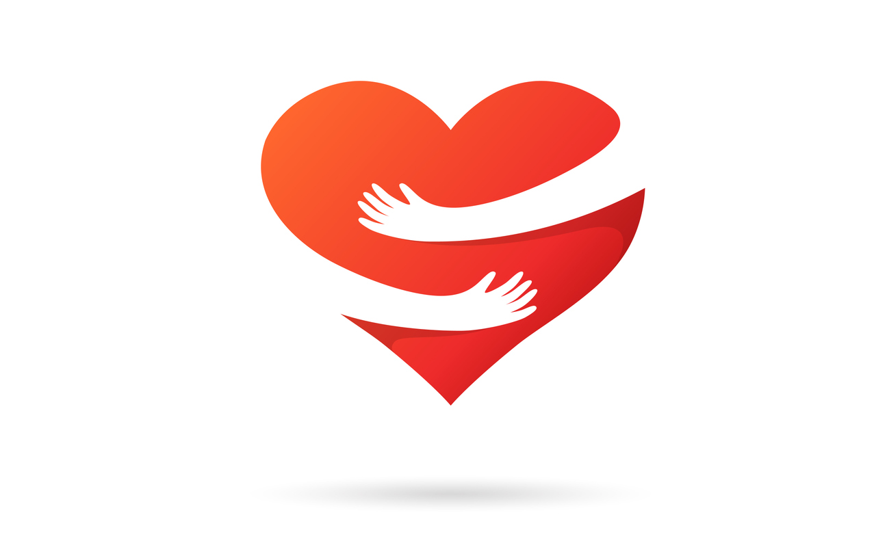 Herz selbst umarmen
